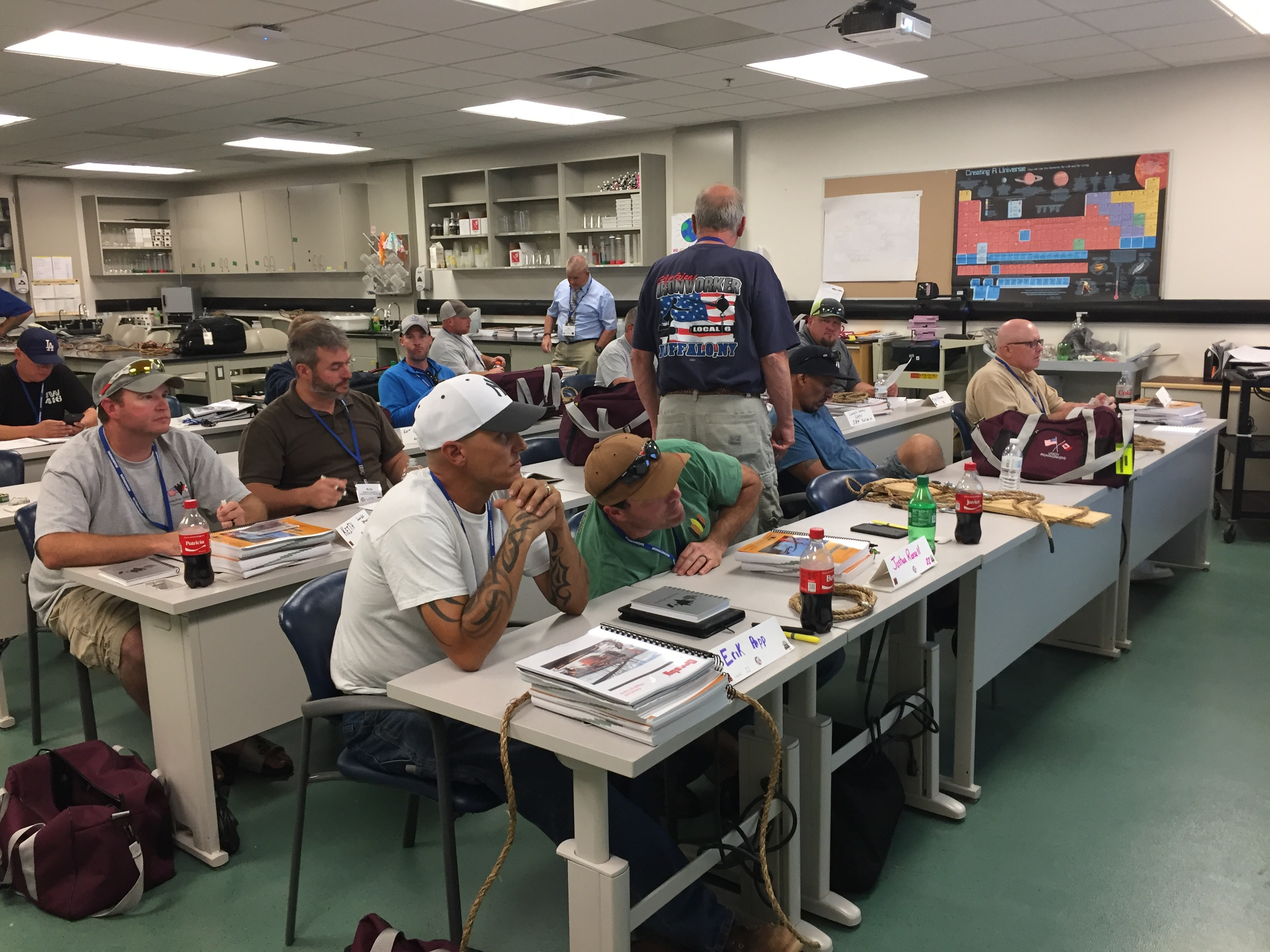 Crosby teaches at Ironworkers Union Instructor Training Program