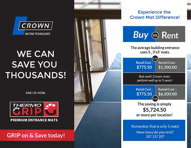 Crown ThermaGrip Premium Entrance Mats
