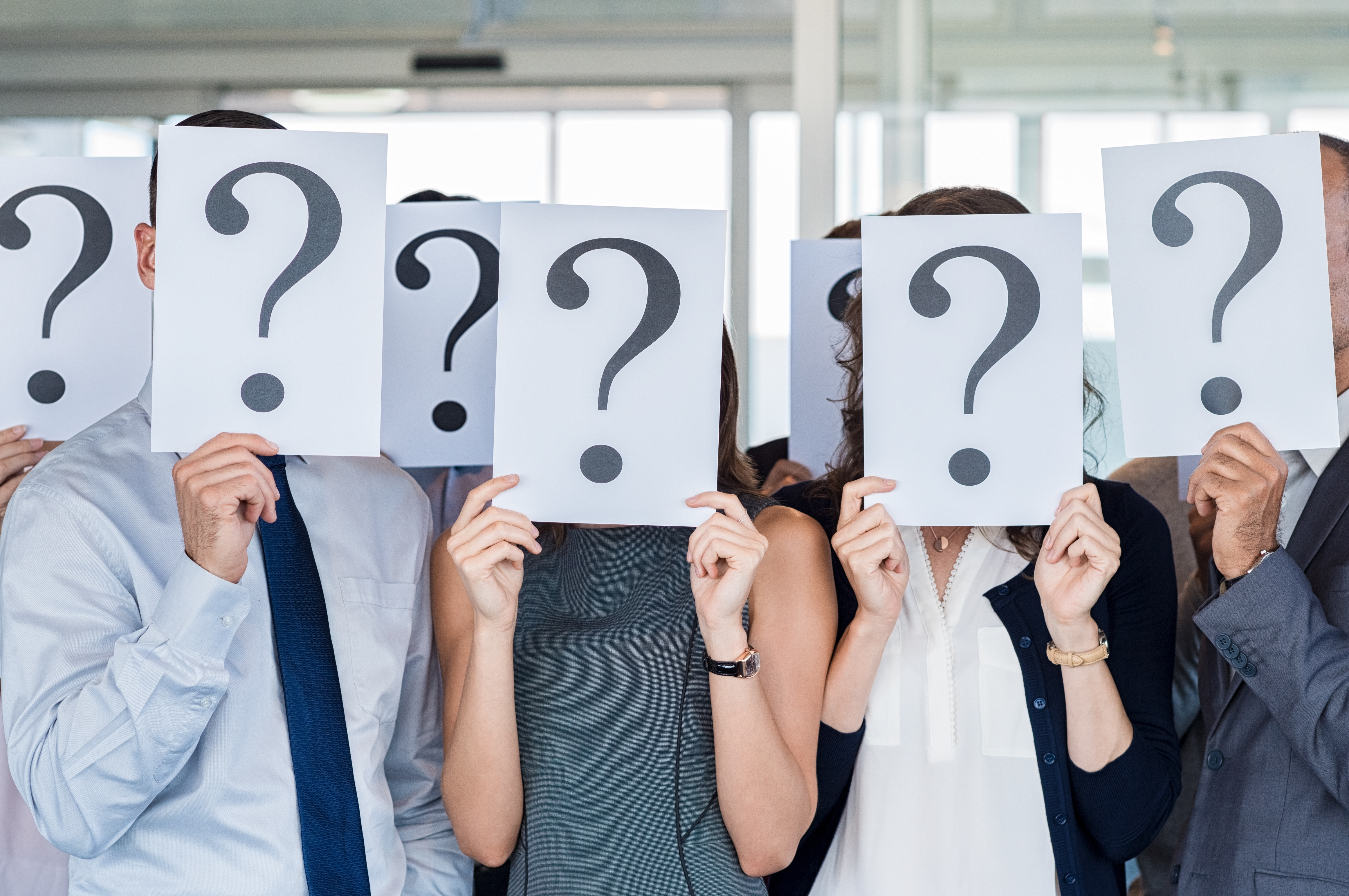 frequently asked questions pinckney marketing employees holding signs