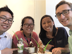 lunch break with coworkers in Singapore