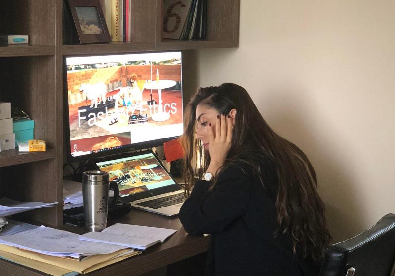 Martina, remote intern at Visionario