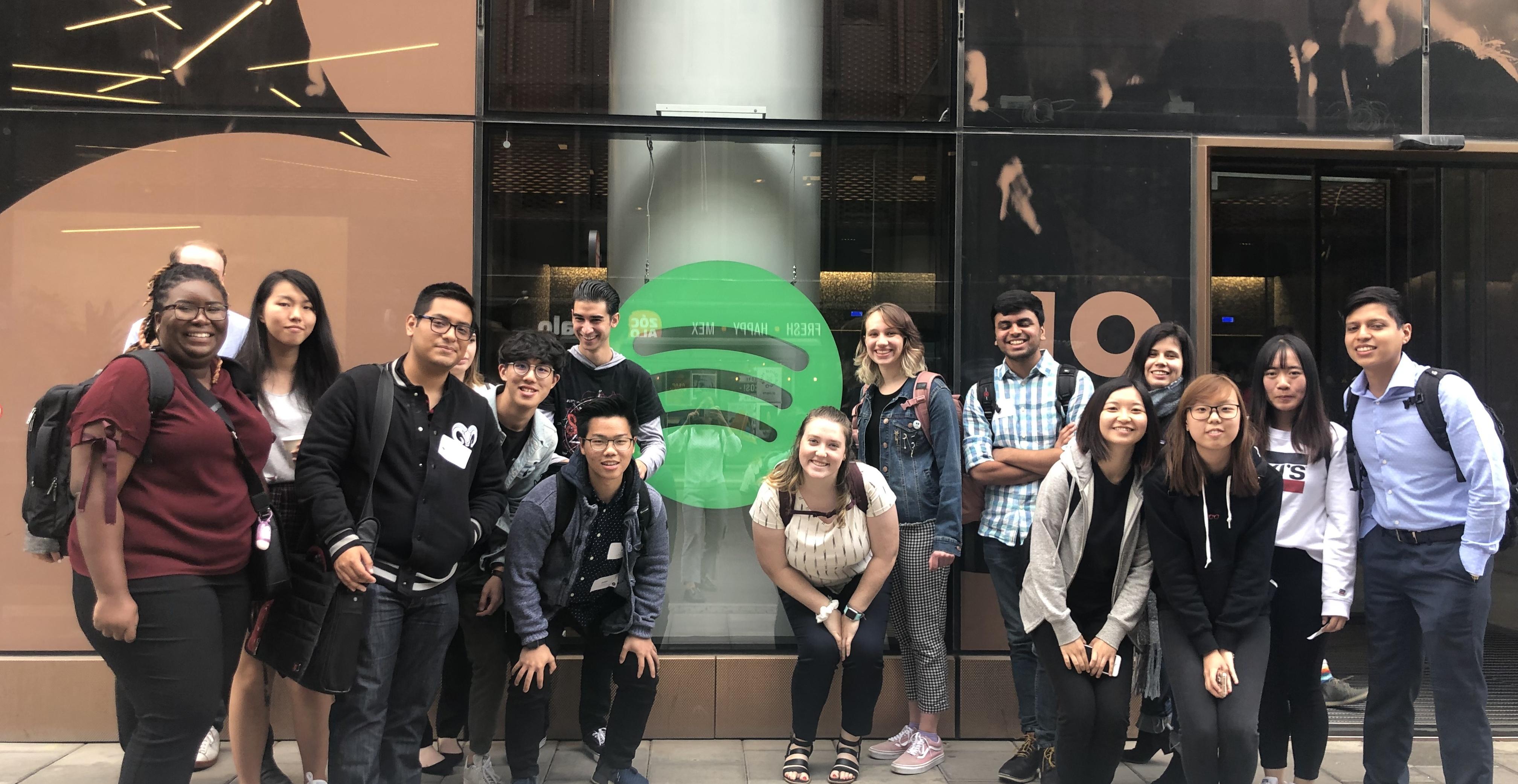 Spotify company visit in Stockholm