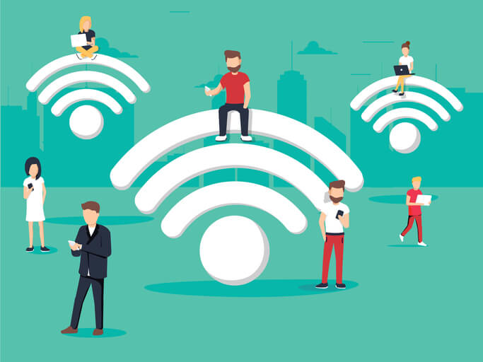 Figures connecting to Wi-Fi