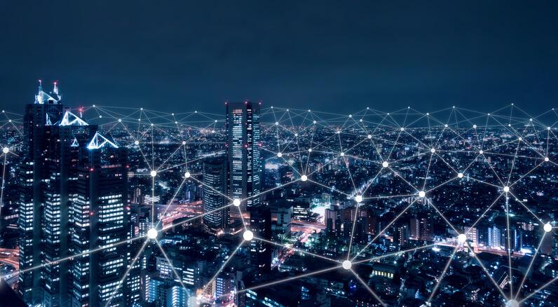 A connected cityscape through tech