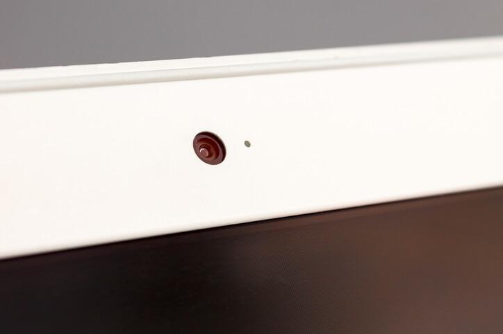 Webcam on a laptop computer
