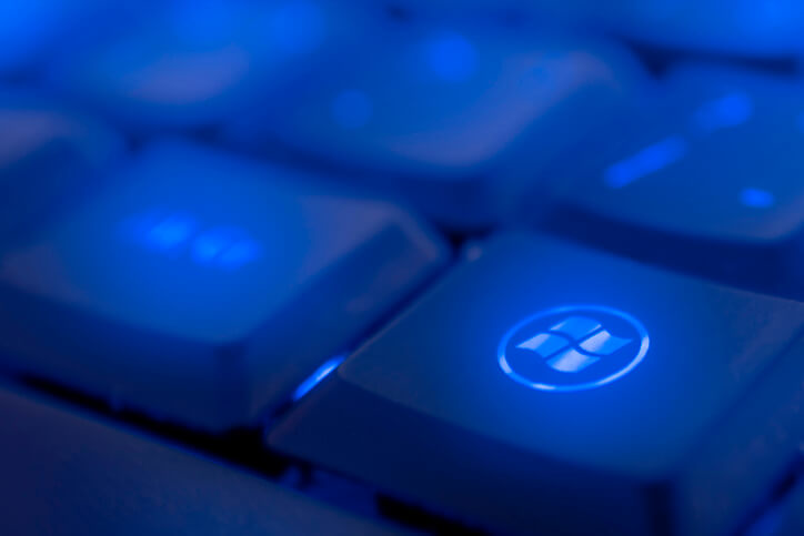 Microsoft Windows Key on a keyboard