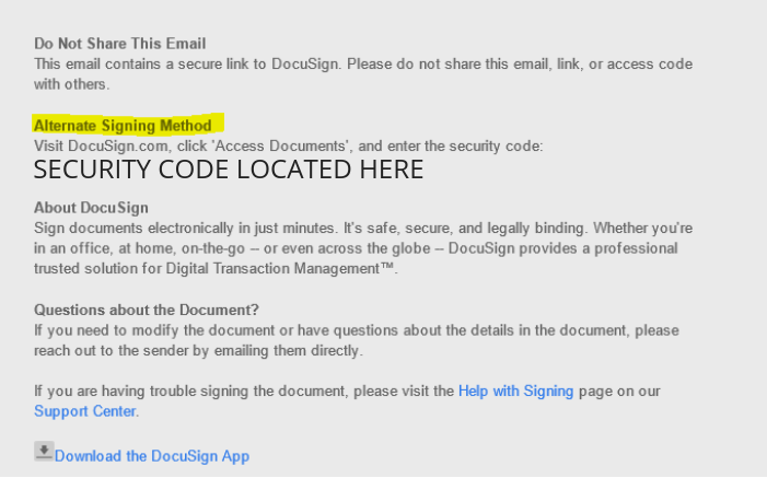 docusign email example