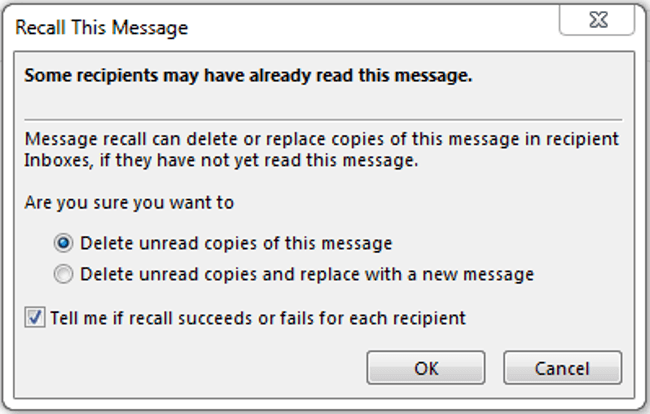 how can you unsend an email in outlook