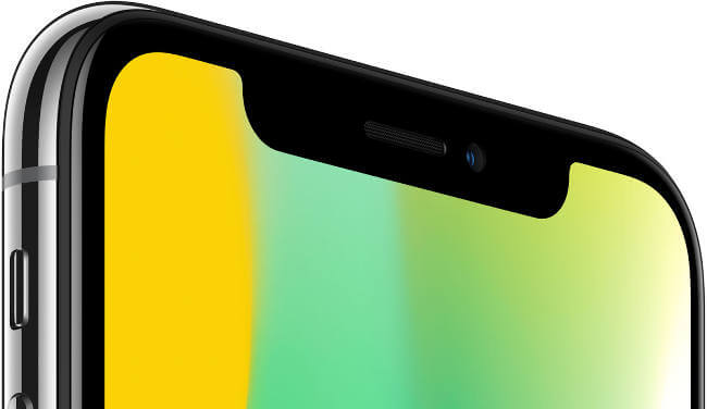 iphone x features notch
