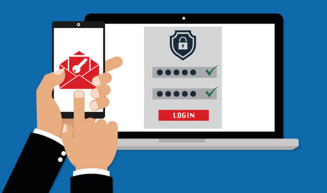strong password two factor authentication