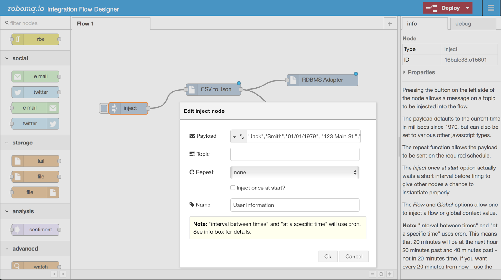 Building business processes using RoboMQ Integration Flow