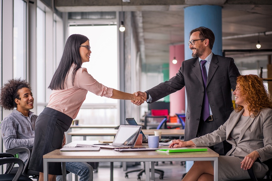 Negotiation success ends in handshake