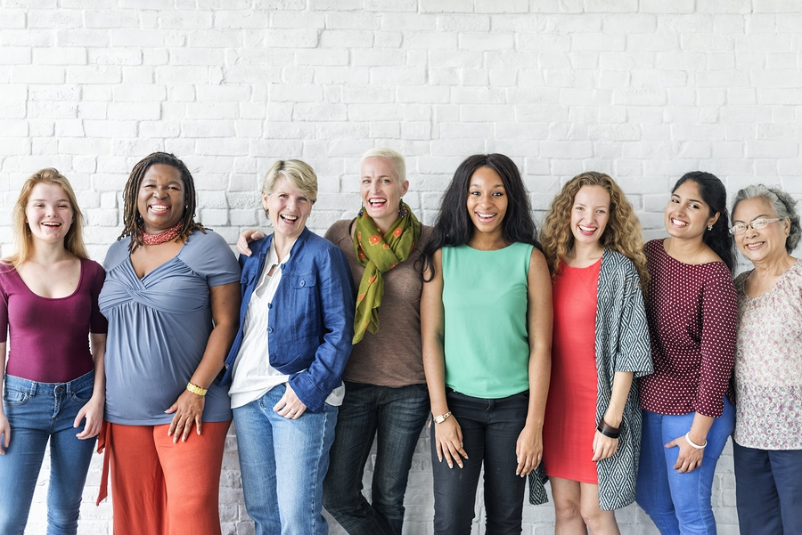 Happy group of woman