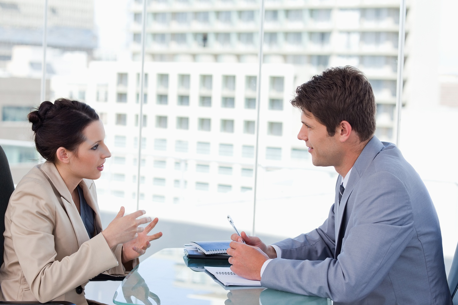 Male Female one on one negotiations