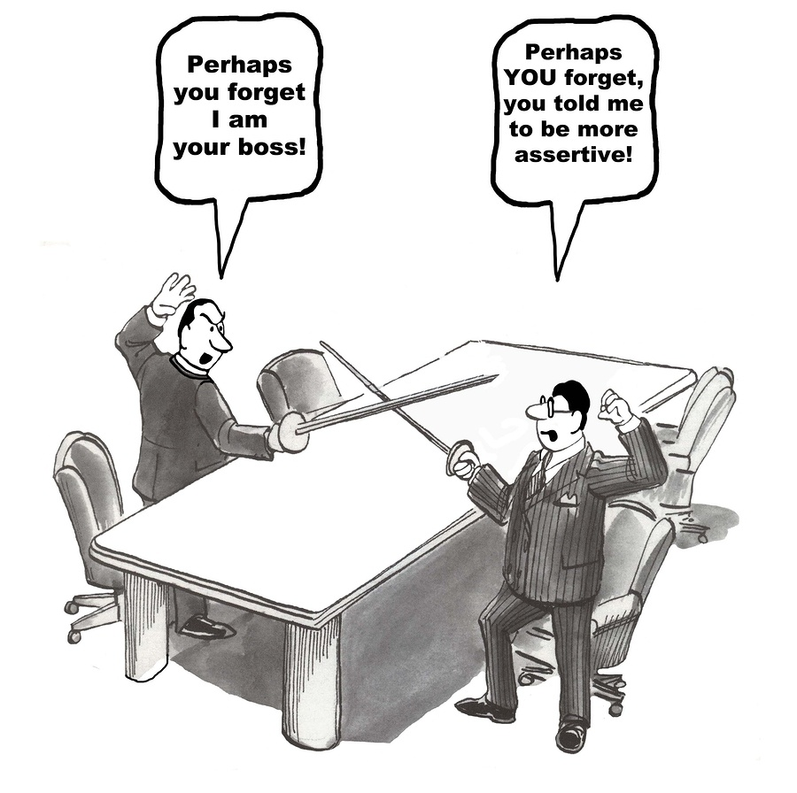 Boss and Employee Conflict Comic