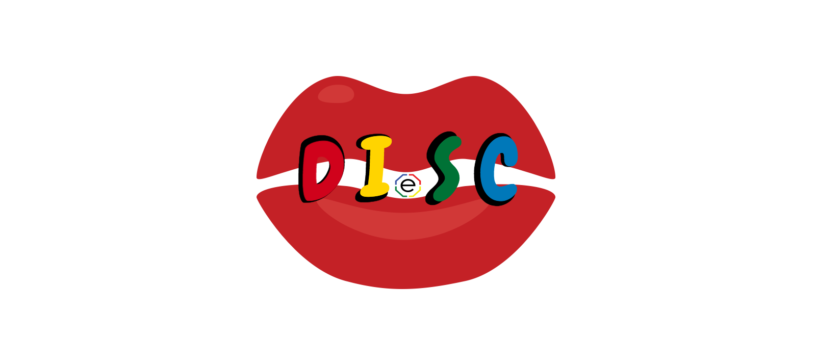 KISS LIPS with DISC letters and Extended DISC Logo