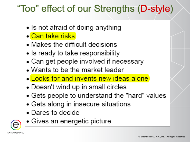 D-style Strengths and too effect