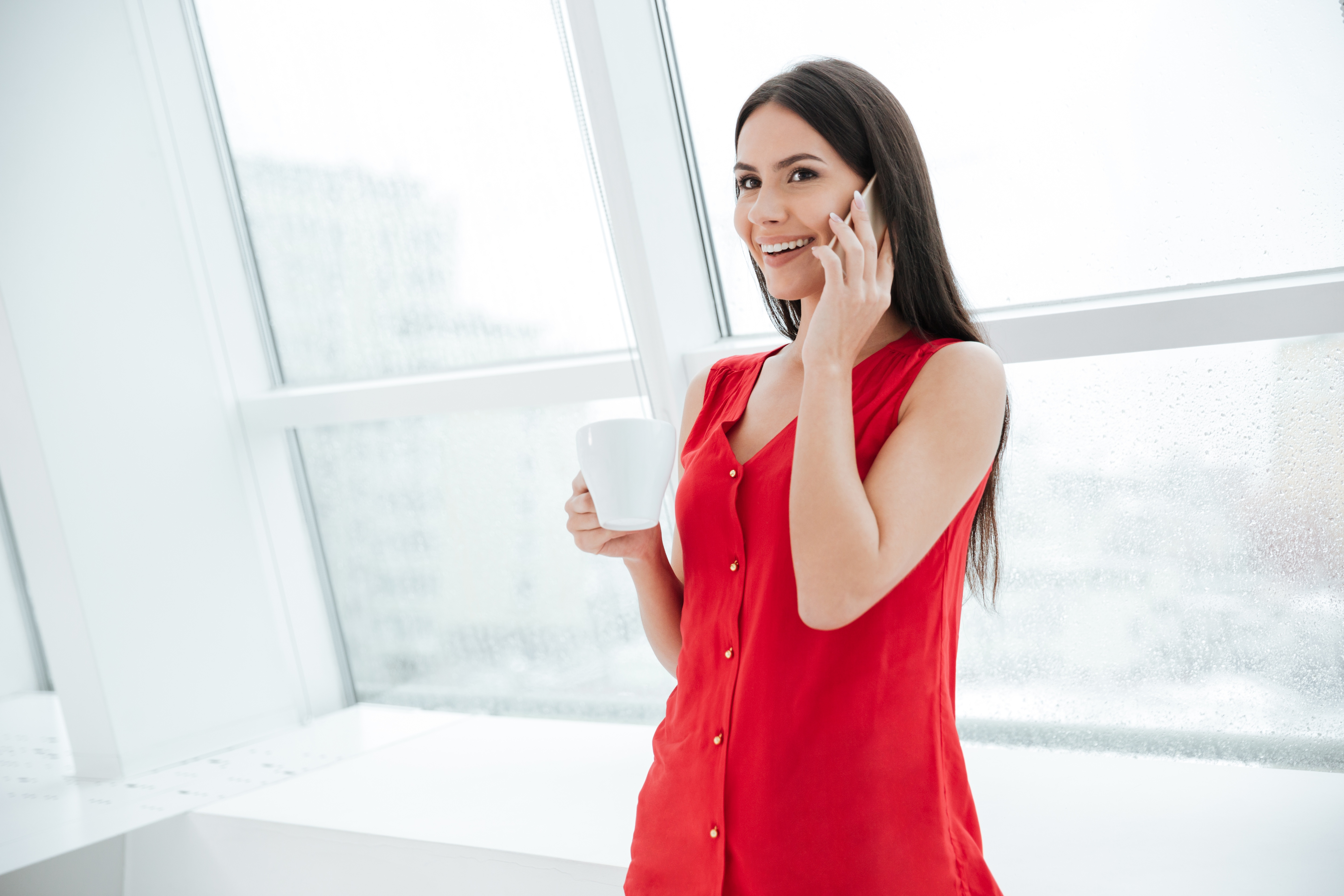 Woman in D-Style Red dress