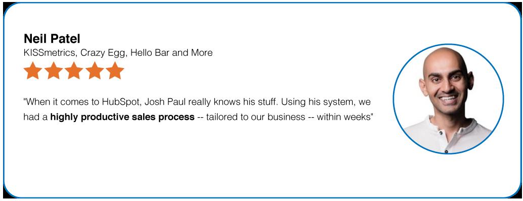 Neil Patel's HubSpot Expert, Josh Paul