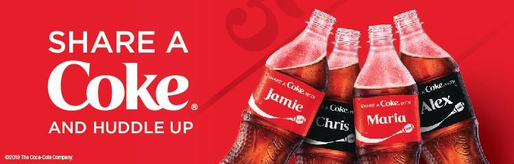 Share A Coke and Huddle Up