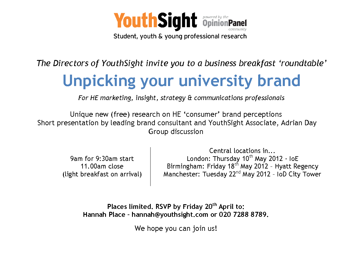 Unpicking your University Brand Roundtable | Institute of