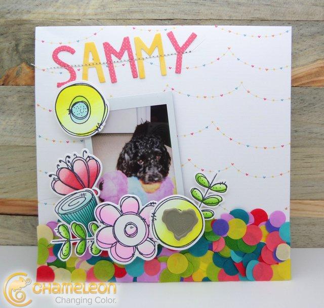 Sammy Scrapbook Layout