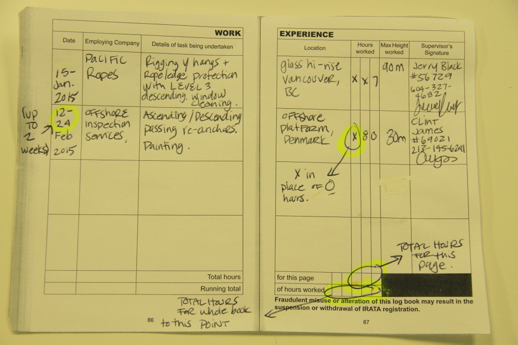 how to fill your logbook successfully