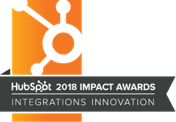 HubSpot Integrations Innovation award 2018
