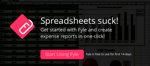 Speadsheets SUCK! One-click expense reports with Fyle