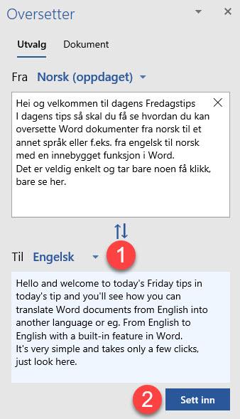 oversetter svensk til norsk