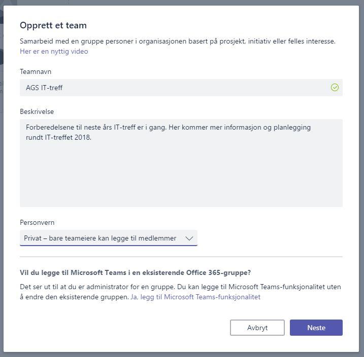 f964beb10 Enkel innføring i Microsoft Teams