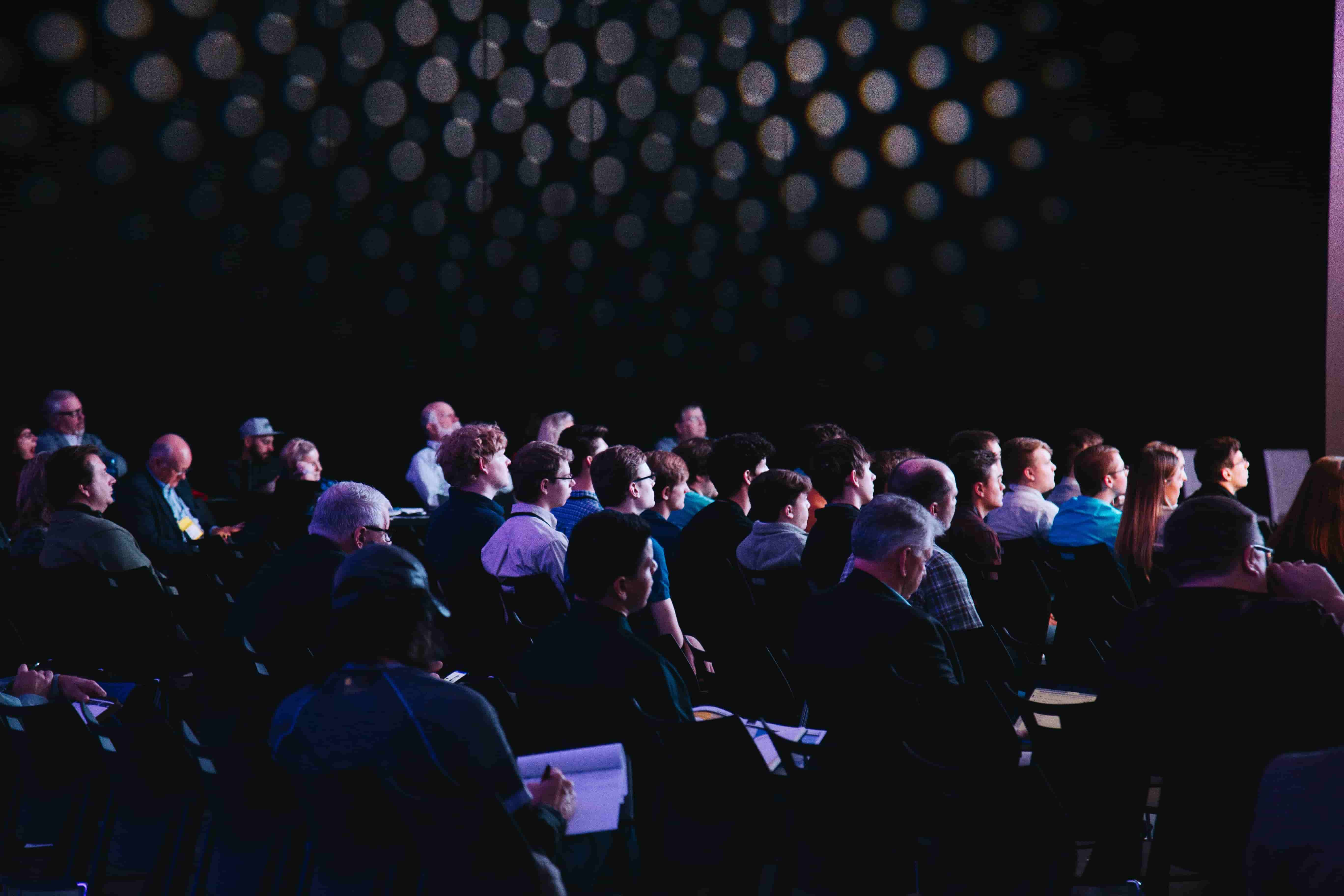 Transcribed conferences use artificial intelligence to produce audio to text transcripts