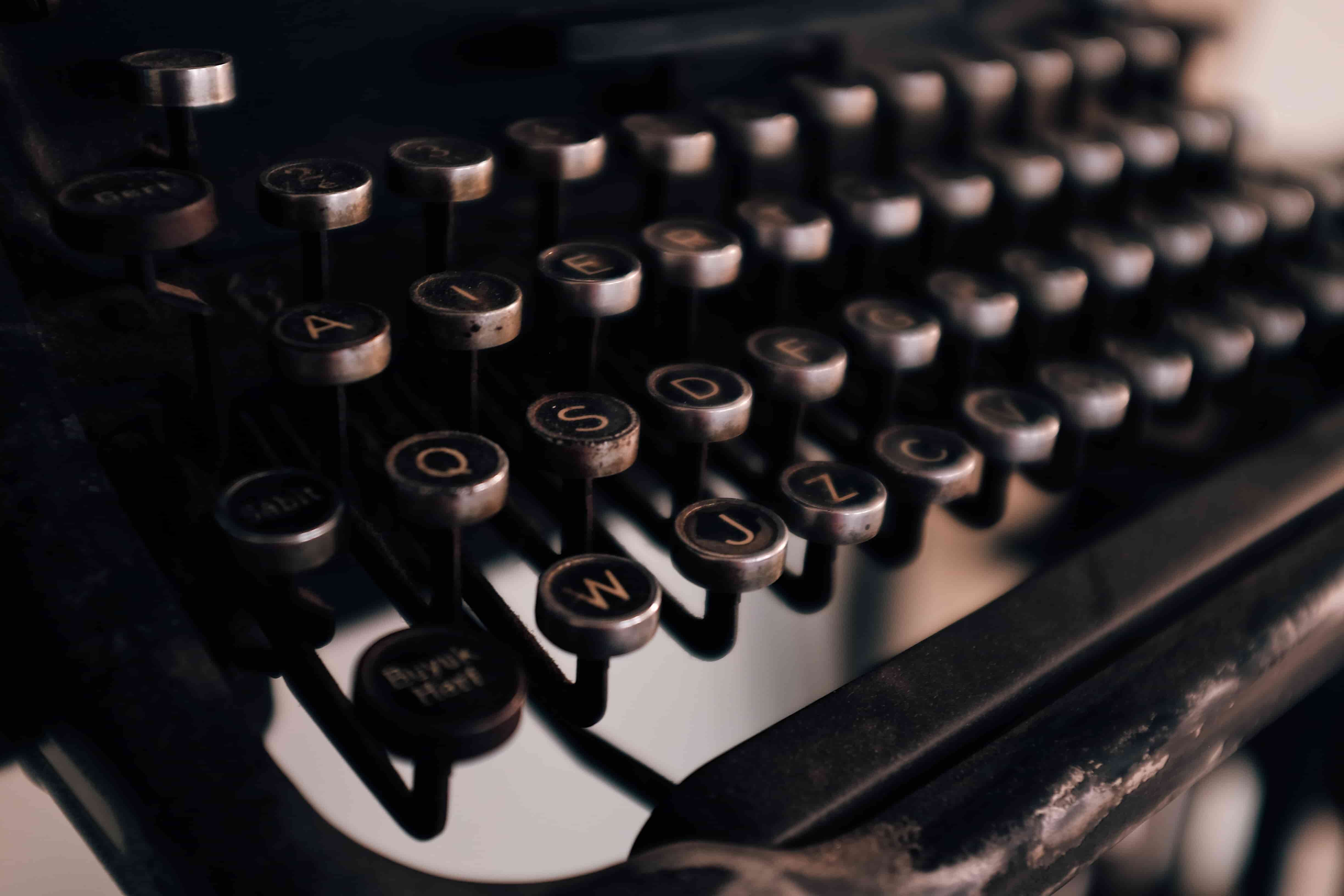 Typewriters are an antiquated way to transcribe and write copy
