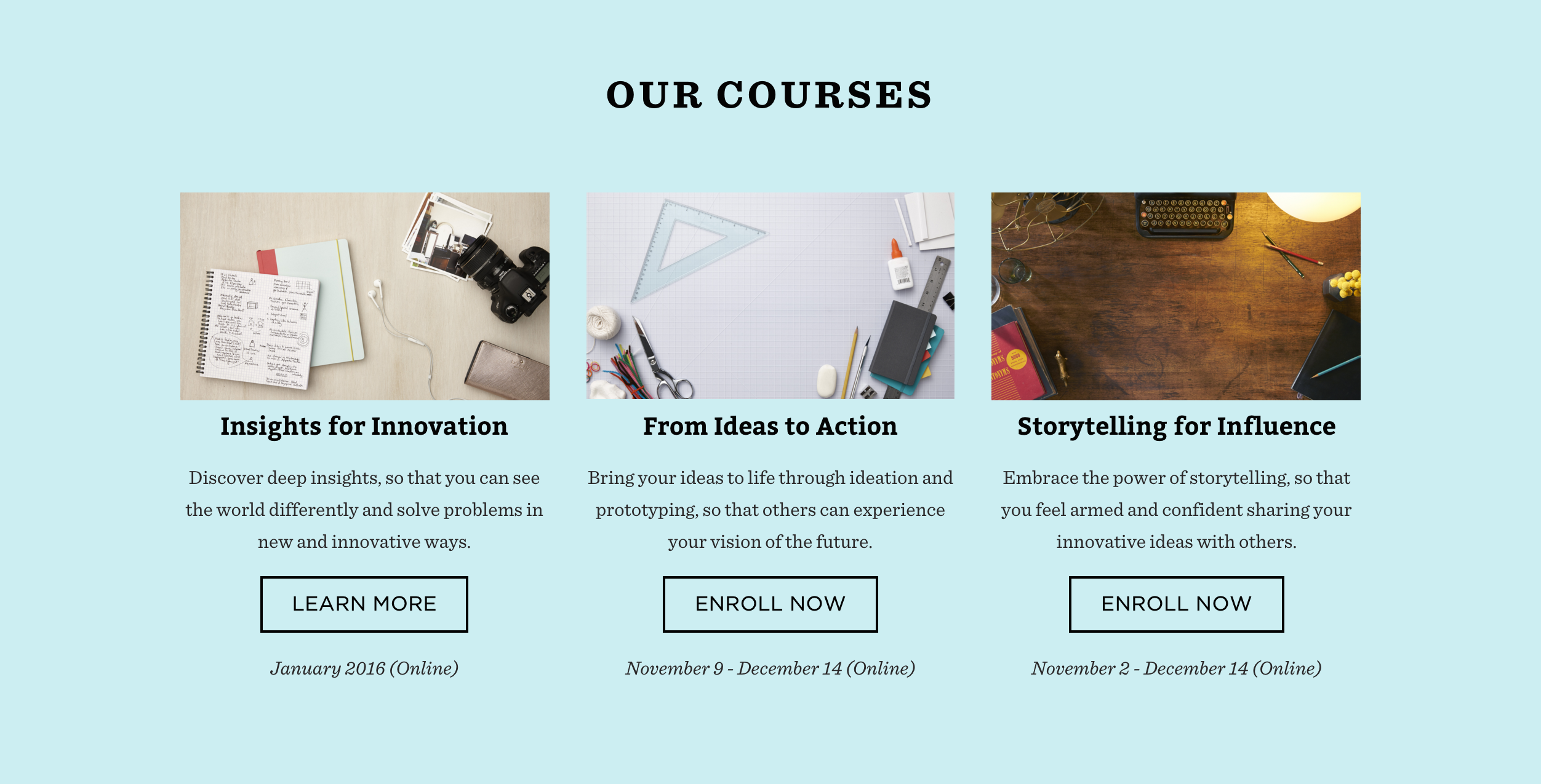design thinking build online courses