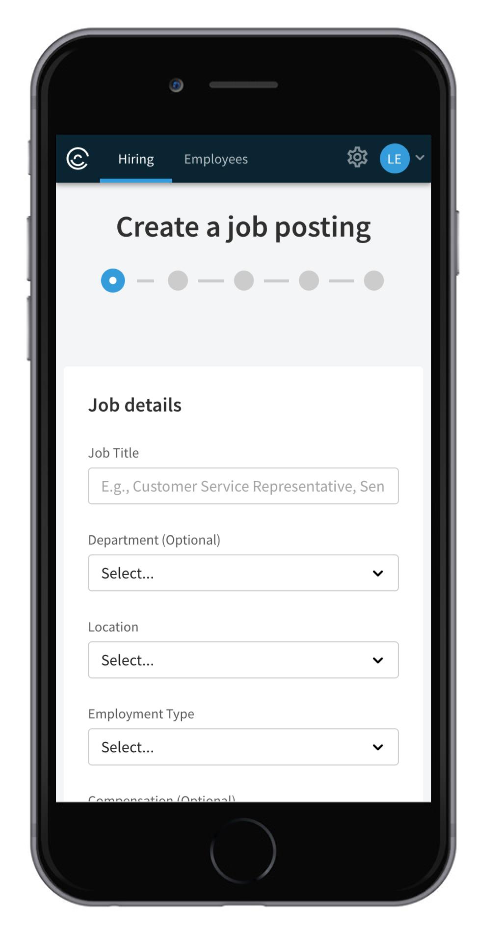 Job Posting - details