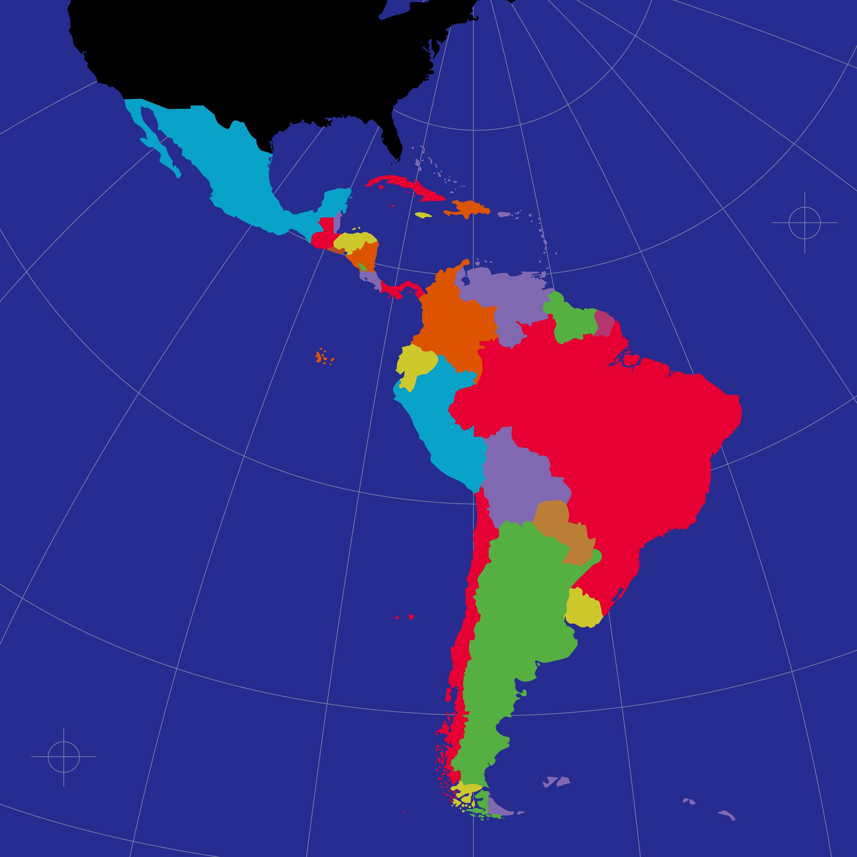 Latin American nearshore call center locations map.