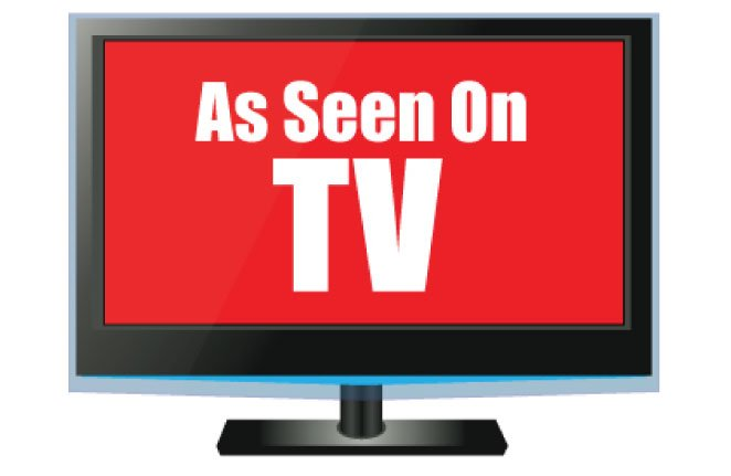 Image of a TV ad representing a direct response marketing campaign.