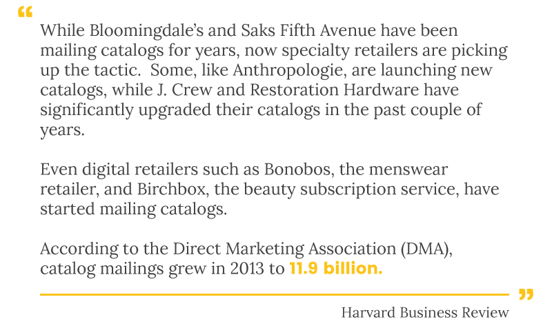 catalogs harvard business quote