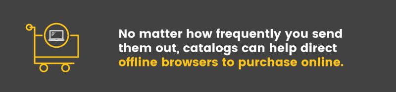 catalogs offline to online