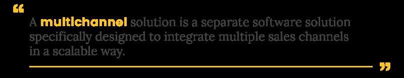 integrate amazon multichannel definition