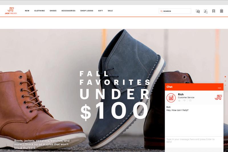 offline and online shoppers jackthreads