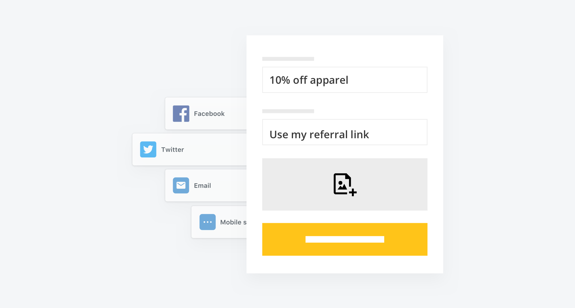 setup custom referral messaging