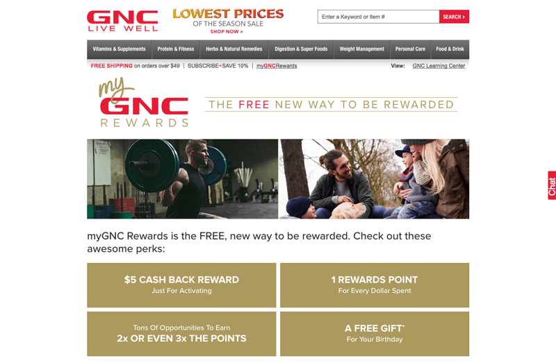 supplements loyalty program example gnc home