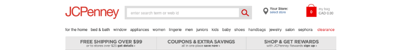 bad ecommerce site jcpenney