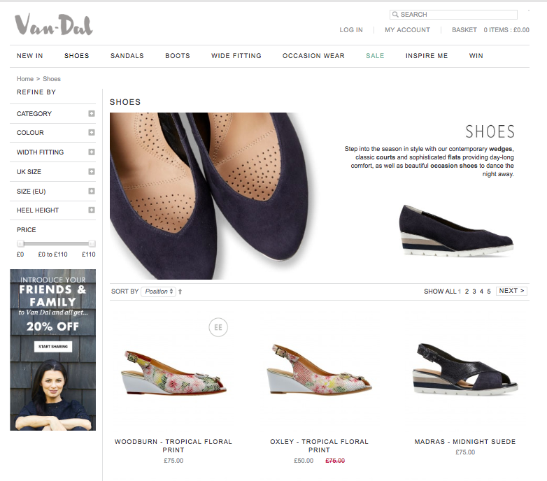 Fashion Examples - van dal shoes main show page black wedge shoes