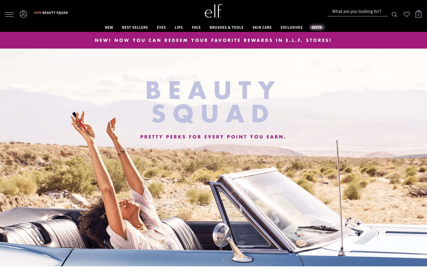 e.l.f. Beauty Squad explainer page