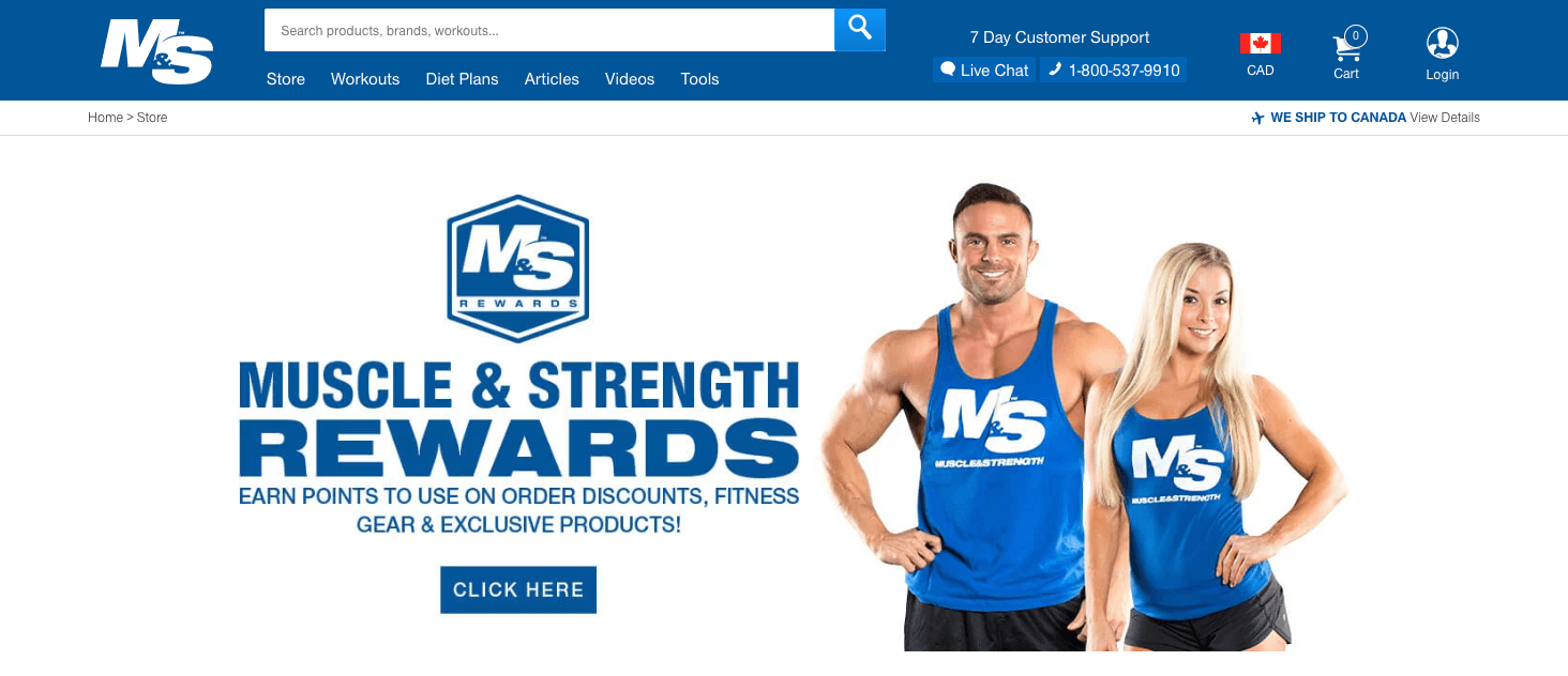 The Best eCommerce Loyalty Programs -  Muscle and Strength