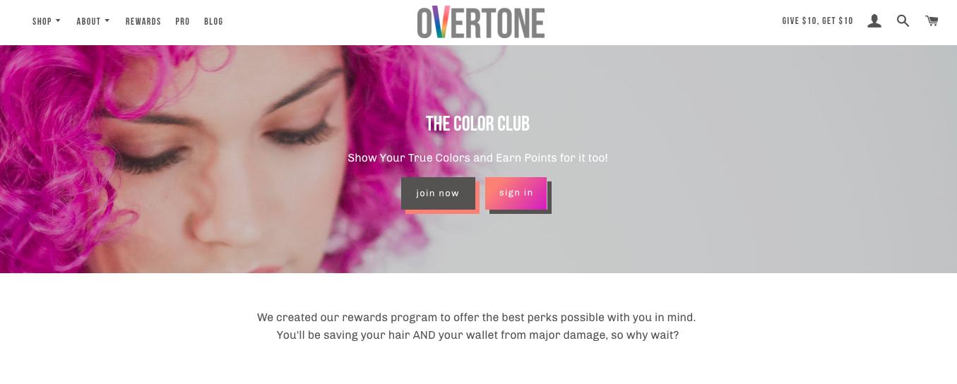 The Best eCommerce Loyalty Programs -  Overtone