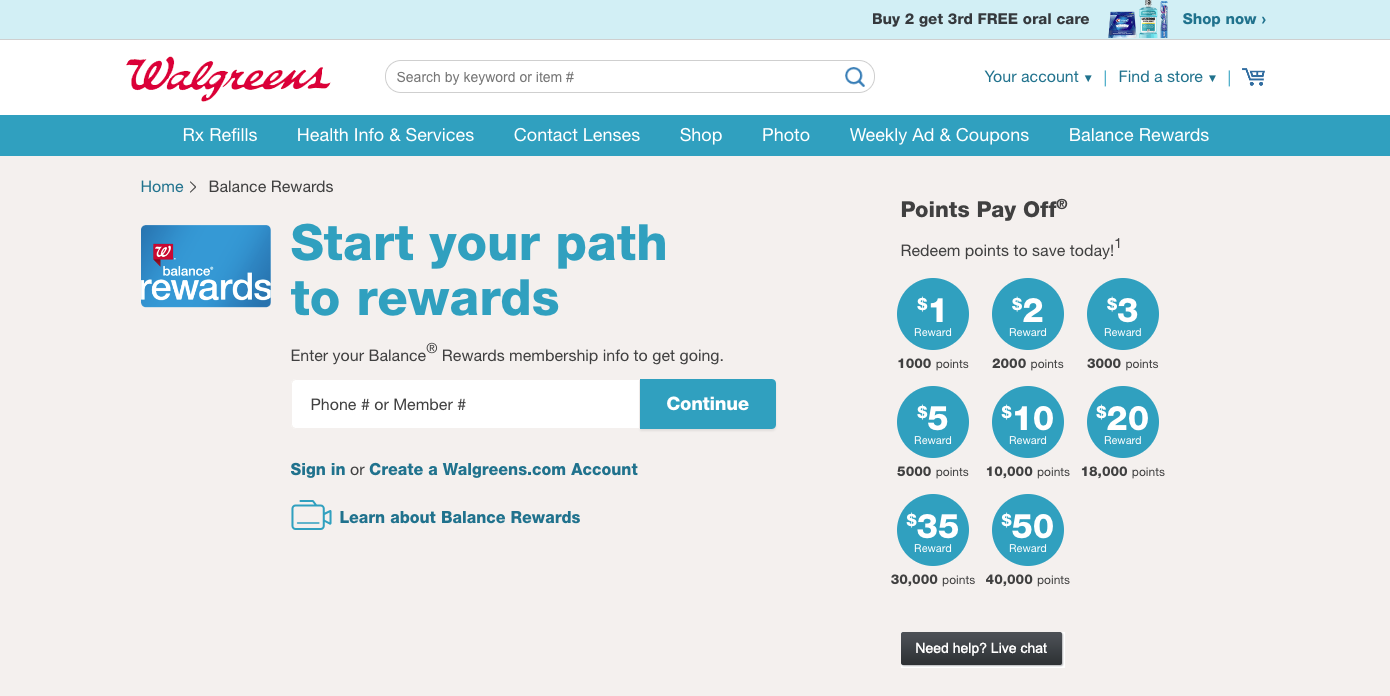 The Best eCommerce Loyalty Programs -  Walgreens