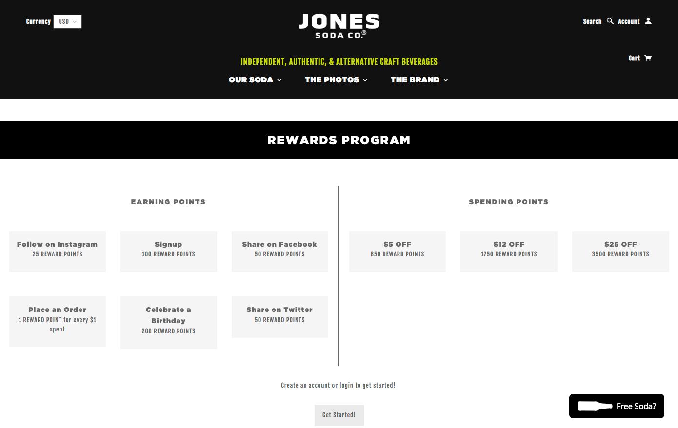 The Best eCommerce Loyalty Programs - Jones Soda